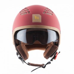 CASQUE MT COSMO RUBBER RED